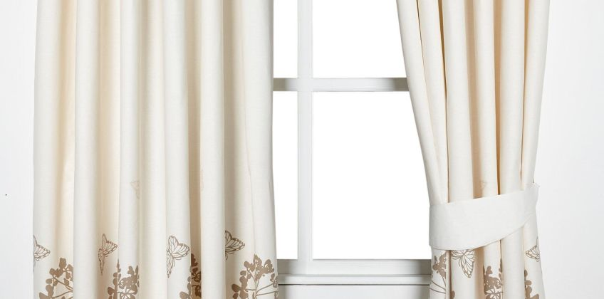 Meadow Lined Cotton Eyelet Curtains from Studio