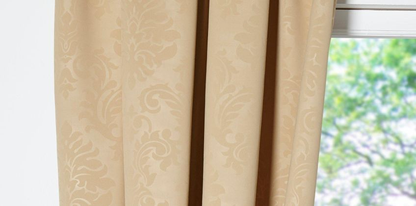 Polly Woven Damask Lined Blockout Curtains from Studio