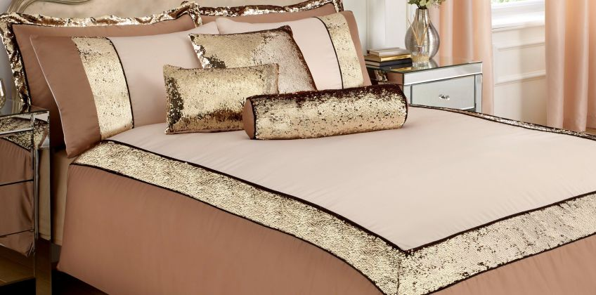 Radiance Sparkle Pencil Pleat Curtains from Studio