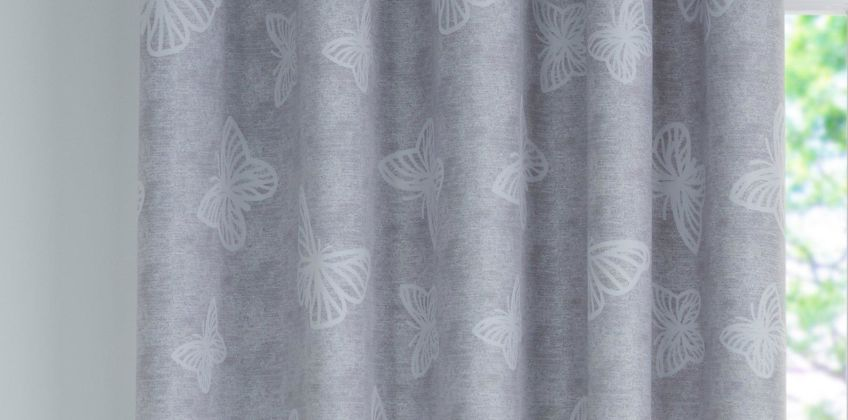 Butterfly Blackout Eyelet Curtain from Studio
