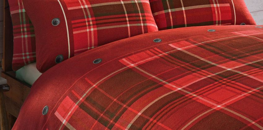 Arron Check Brushed Cotton Flannelette Duvet Set from Studio