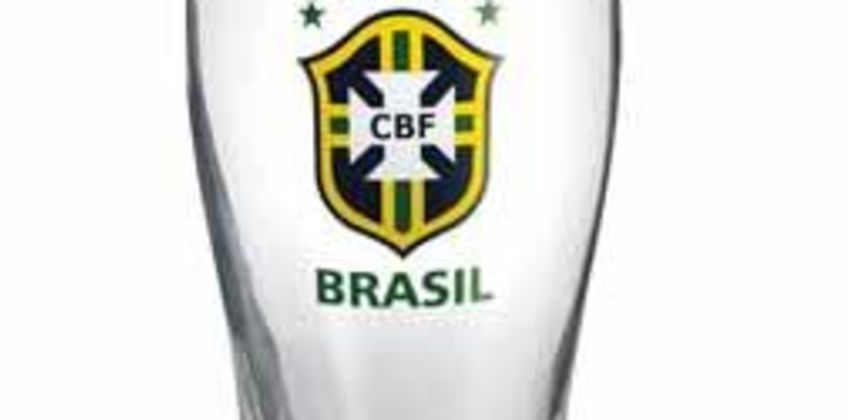 Personalised Football Brazil Crest Glass from Studio
