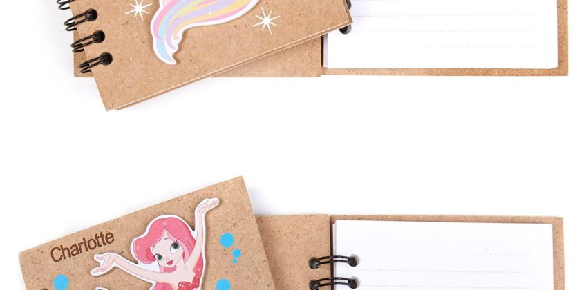 Personalised Mermaid and Unicorn Wooden Book from Studio