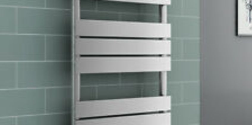 Juva Towel Radiator 800 x 600 - Chrome & 300W LCD Chrome Electric Element from ebay
