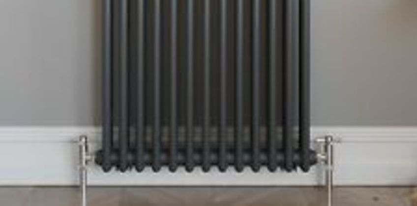 Traditional Colosseum Horizontal Double Bar Radiator 600 x 600mm Anthracite from ebay