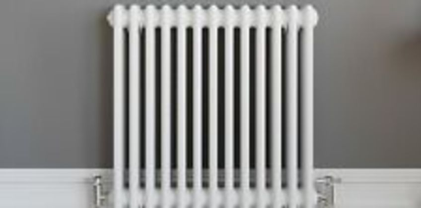 Traditional Classic Colosseum Horizontal Triple Bar Radiator 600 x 600mm White from ebay