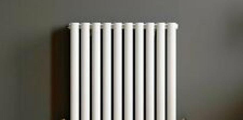 Modern Horizontal 600x600mm Radiator Heater Double Panel Oval Tube Column White from ebay