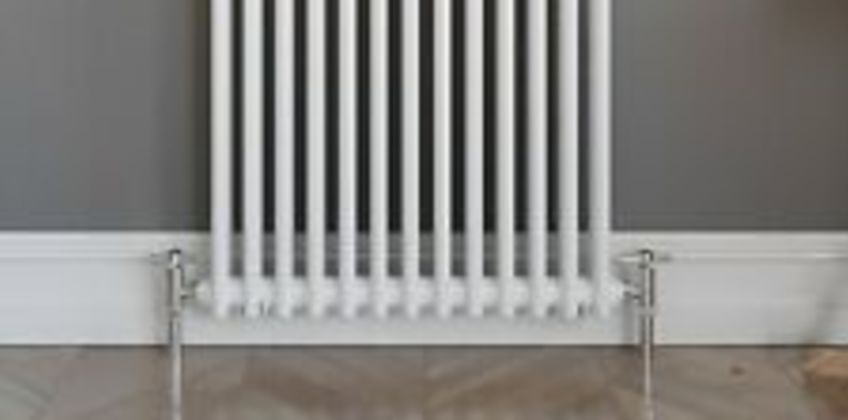 Traditional Classic Colosseum Horizontal Double Bar Radiator 600 x 600mm White from ebay