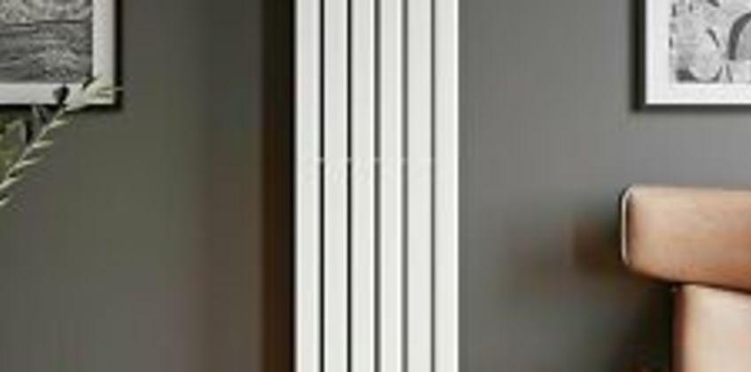 Designer Radiator Vertical White Flat Panel Rads Single Panel 1800x452mm from ebay