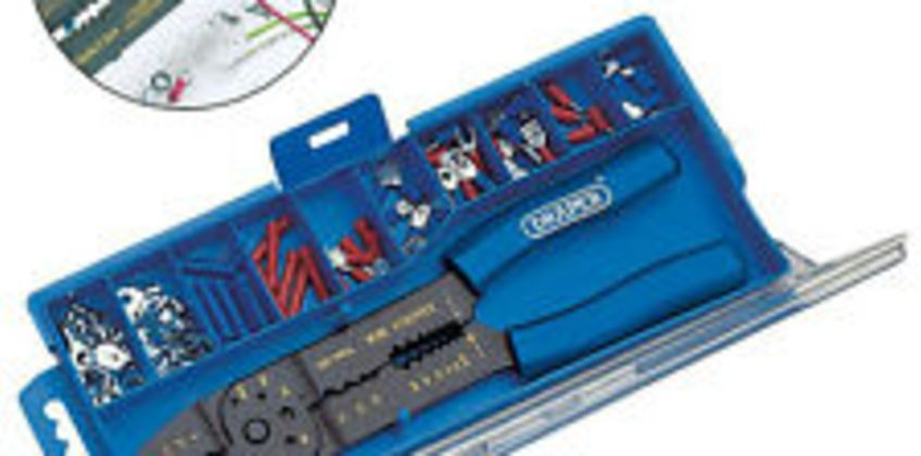 Draper Electricians Crimping Tool Electrical Cable Terminal Crimper Tool Kit Set from ebay