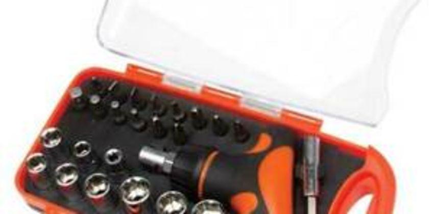 Pocket Socket Set 25 Pieces Ratchet Screwdriver Bits Garage - Top Tech HZF8187 from ebay