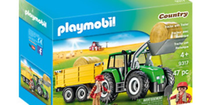 Playmobil 9317 Tractor with Trailer (Farms & Animals, Playsets) Age 3+ from ebay