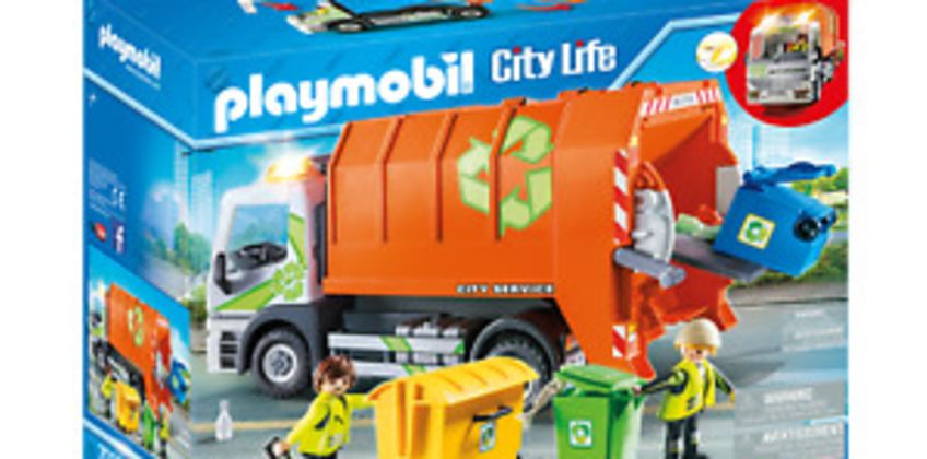 Playmobil 70200 City Life Vehicle World Recycling Truck with Flashing Lights from ebay