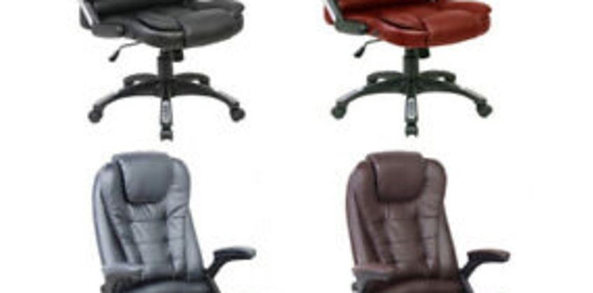 Neo Executive Leather Gaming Computer Desk Office Swivel Recliner Massage Chair from ebay