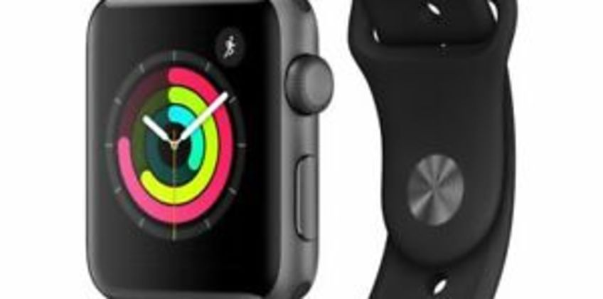 APPLE Watch Series 3 - Space Grey & Black Sports Band 42 mm - Currys from ebay