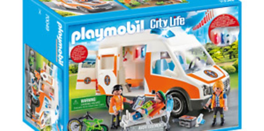 Playmobil 70049 City Life Hospital Ambulance with Lights and Sound from ebay