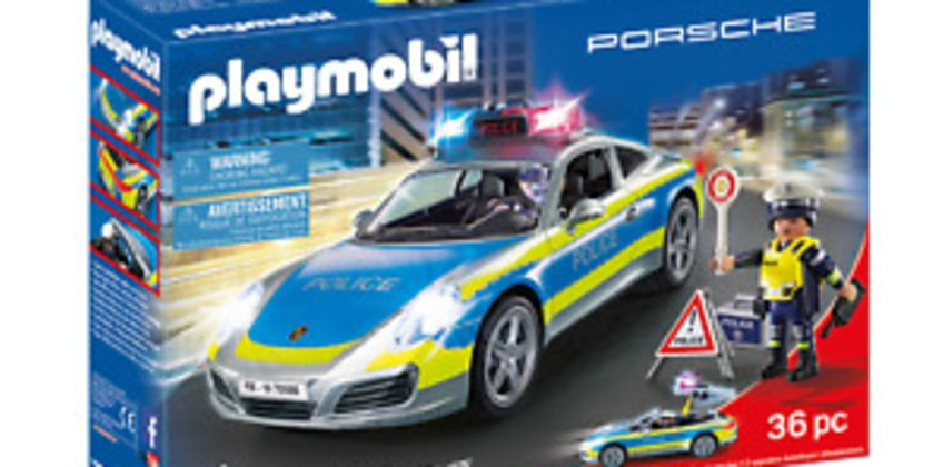 Playmobil 70066 Porsche 911 Carrera 4S Police Car with Lights and Sound from ebay