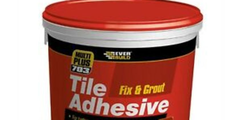 Everbuild 703 Fix and Grout Tile Adhesive Grout Mould Resistant Brilliant White from ebay