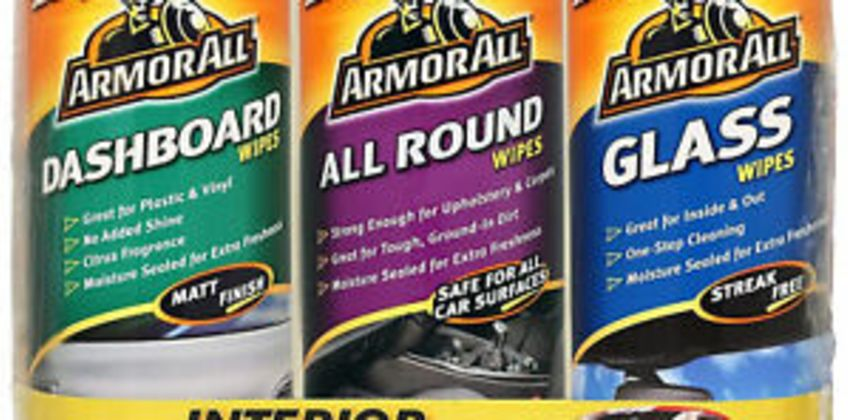 Armor All Car Interior Triple Pack Wipes Dashboard, All Round & Glass 90 Wipes from ebay