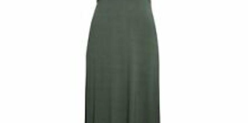 Dorothy Perkins Womens Green Empire Seam Midi Dress Boat Neck Short Sleeve from ebay