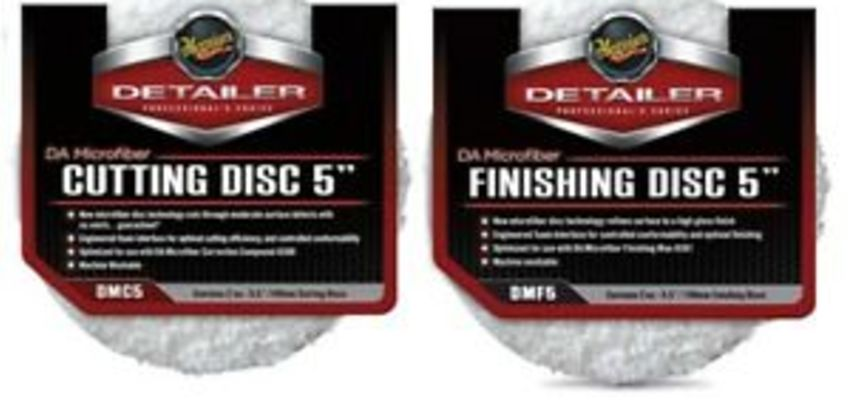 "Meguiars DMC5 5"" Microfibre Cutting DMF5 Finishing DA Discs Car Care Cleaning Me from ebay"