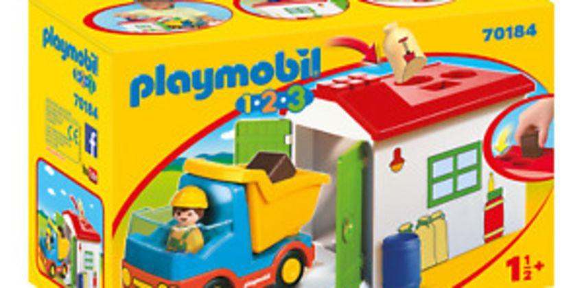 Playmobil 70184 1.2.3 Garbage Truck for Children 18 Months+ from ebay