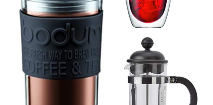 Save on Bodum french press coffee makers, PAVINA glasses and more from Amazon