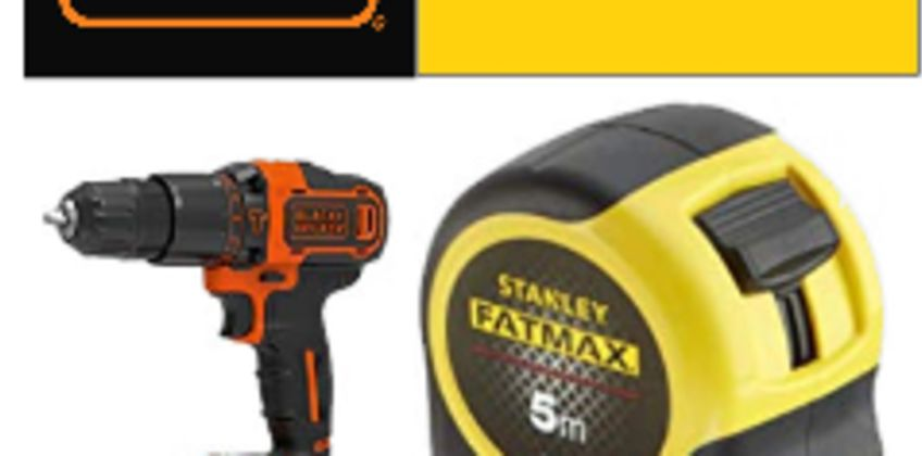 25% Off Stanley Black + Decker Tools from Amazon