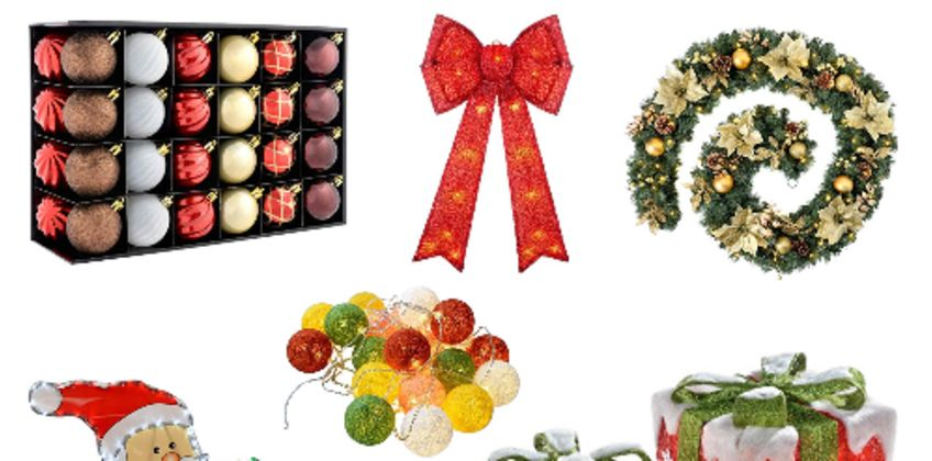 Clearance: up to 60% off Christmas decorations from Amazon
