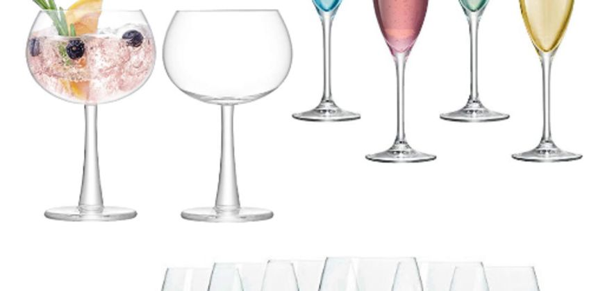 Up to 55% off Wine and Celebration Glassware from Amazon