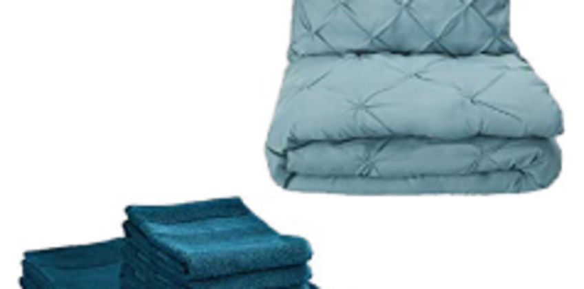 Up to 20% on Bedding and Bath linens from AmazonBasics and more from Amazon