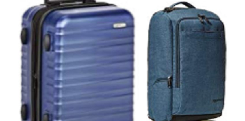 Up to 20% on Luggage and Travel products from AmazonBasics from Amazon