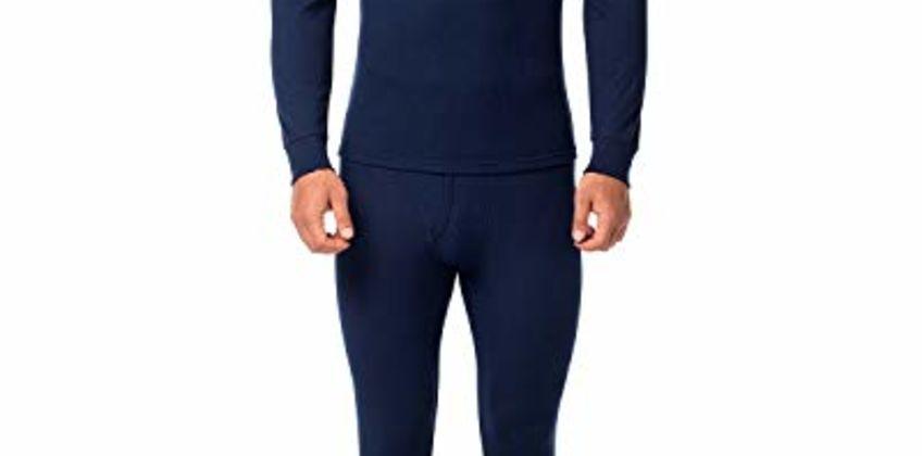 LAPASA Men's Thermal Underwear Set Thermal Underwear Men Thermals Men Long Sleeve Top & Bottom Long Johns for Men Thermal M11,M53,M57,M60 from Amazon