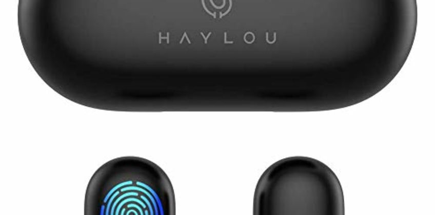 True Wireless Earbuds,Haylou GT1 Bluetooth 5.0 Sports HD Stereo Touch Control Ear Buds with IPX5 Waterproof/Fast Connection/Mini Case(Only 30g)/Total 12H Playtime from Amazon