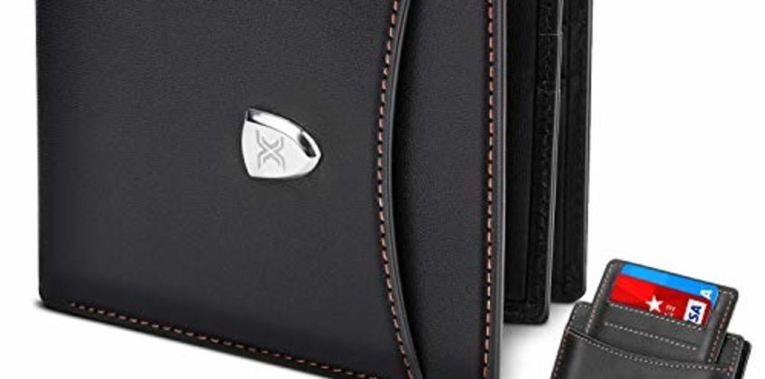 Men Wallet RFID Blocking with 14 Card Slots,Genuine Leather Slim Bi-fold Wallet, Minimalist & Stylish Wallet with Zip Coins Pocket, Large Cash Pockets, ID Window, Credit Card Slots+Gift Box-Black from Amazon