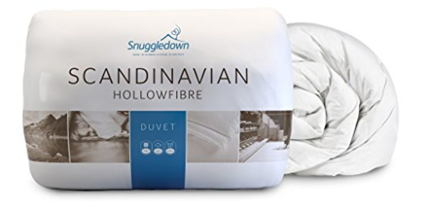 Save on Snuggledown Classic Hollow Fibre Duvet, 10.5 Tog All Year Round, Double and more from Amazon