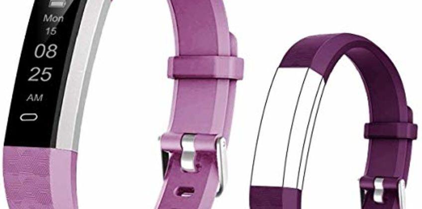 BIGGERFIVE Fitness Tracker Watch for Kids Boys Girls Teens, Pedometer Watch, Activity Tracker, Sleep Monitor, Calorie Counter, Vibrating Alarm Clock, IP67 Waterproof Step Counter Watch from Amazon