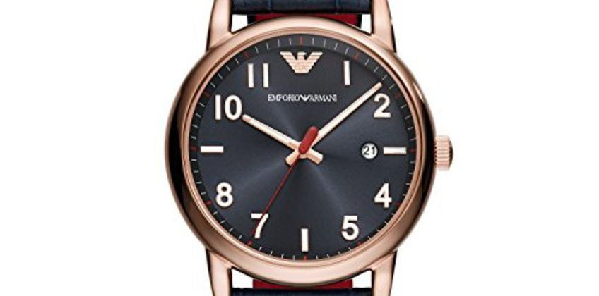 Save on Emporio Armani Mens Analogue Quartz Watch with Leather Strap AR11135 and more from Amazon