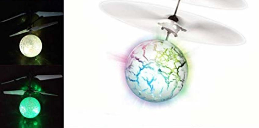 UTTORA Flying Ball, Kids Toys Remote Control Helicopter Ball Mini Drone Infrared Induction with Flashing LED Lights for Boys Girls Adults Toys from Amazon