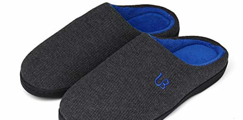 UBFEN Womens Mens Slippers Memory Foam Comfort Fuzzy Plush Lining Slip On House Shoes Indoor Outdoor from Amazon