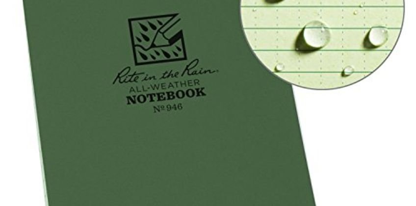 Rite in the Rain Universal Pocket Top Spiral Notebook - Green/Green, 4 x 6 Inch from Amazon