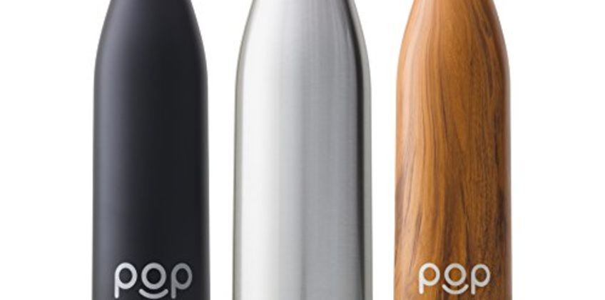 POP Design Water Bottle, Keeps Cold 24hrs. or Hot for 12hrs, Sweat & Leak-Proof, Narrow Mouth & BPA Free, 500ml or 750ml, 3 Color from Amazon