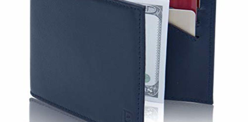 Lavievert Men's RFID Front Pocket Slim Wallet Genuine Leathe from Amazon