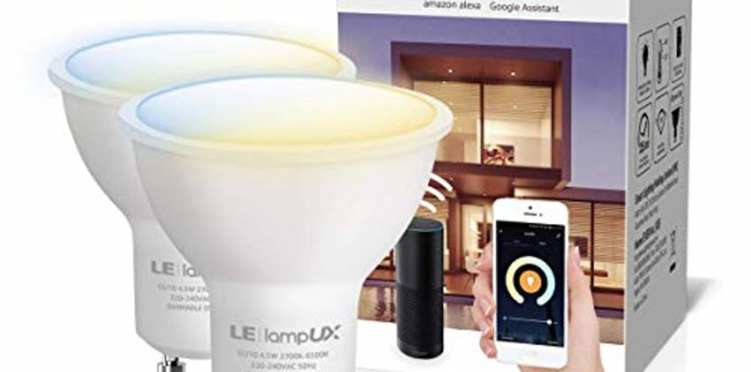 LE Alexa GU10 Smart Bulbs, Warm to Cool White Spotlight from Amazon