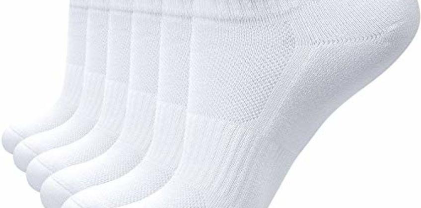 coskefy Sports Socks Cushioned Running Socks Trainer Socks for Men Women Cotton Ankle Socks Low Cut Athletic Walking Socks (6 Pairs) from Amazon