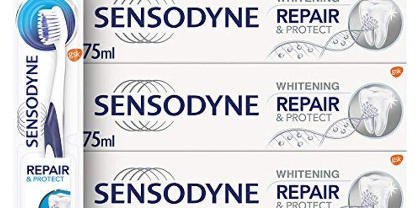 Save on Sensodyne Sensitive Repair and Protect Whitening Toothpaste and Toothbrush Regime Kit and more from Amazon