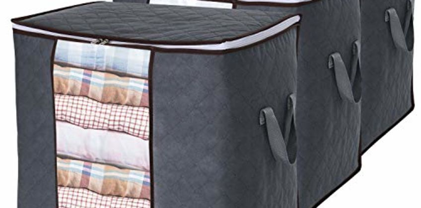 Lifewit Large Capacity Storage Bag with Reinforced Handle, Upgrade Fabric Duvet Storage Bags from Amazon