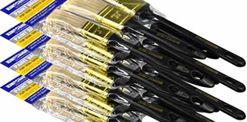 KingOrigin Household Paint Brush Set 20Piece Five Size Assorted with Premium Quality 10030A from Amazon