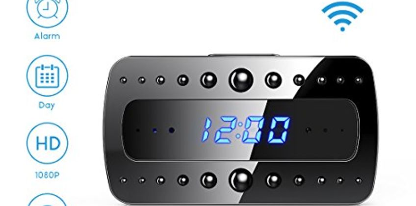 FREDI Spy Camera, 1080P HD WiFi Hidden Camera Clock Mini Spy Cam, Small Wireless Home Security Surveillance Cameras Alarm Clock/Night Vision/Motion Detection for iPhone/AndroidPhone/iPad from Amazon