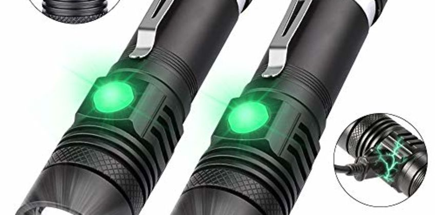 Rechargeable Torch, USB LED Torch from Amazon